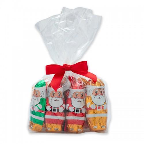 Foiled Chocolate Santa's