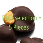 Dark Chocolate  1/2 Dipped Cashews